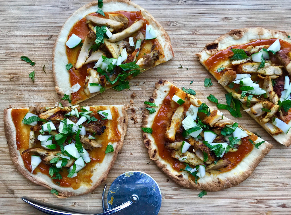 Curry Chicken Flatbreads