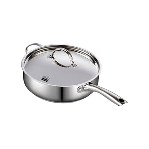 Classic Stainless Steel Deep Sauté Pan with Lid