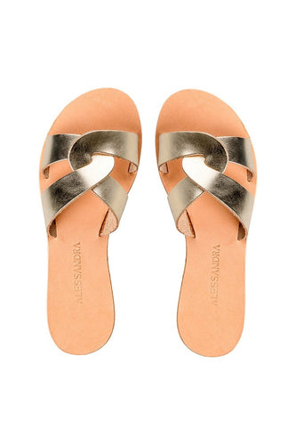 Ammos Koufonisia Gold Sandals