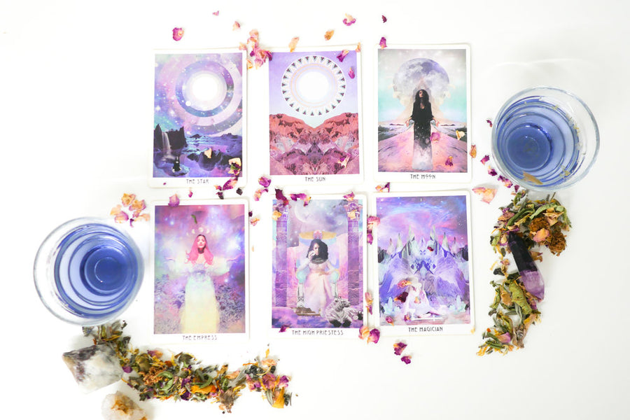 Tea + Tarot: A Crystallized, Moon-Charged Tea Experience