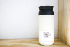 Durable white travel tumbler from Kinto