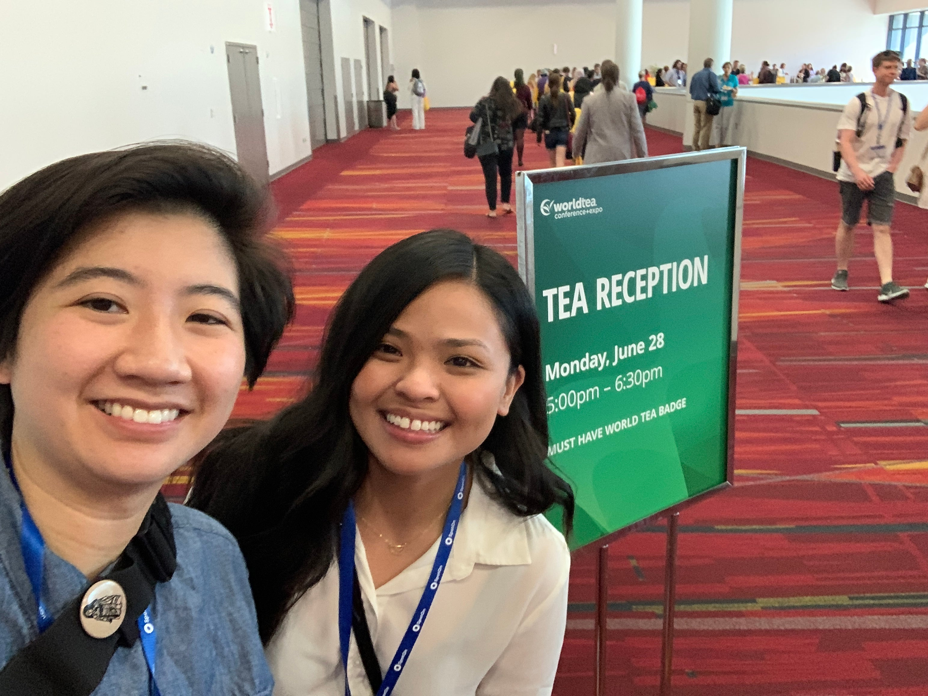 PARU Founders/Owners Amy Truong & Lani Gobaleza at World Tea Expo 2021 in Las Vegas, NV