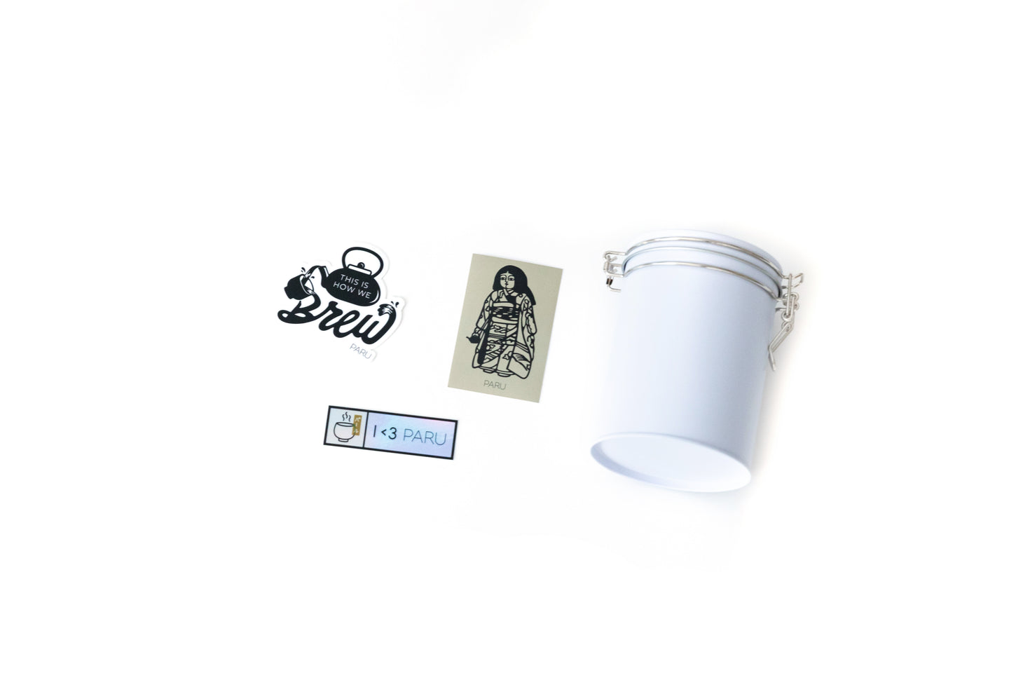 PARU Tea Canister with Sticker Pack