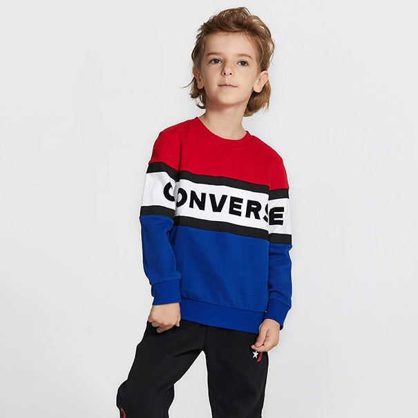 CONVERSE Boys' Long Sleeves Pullover