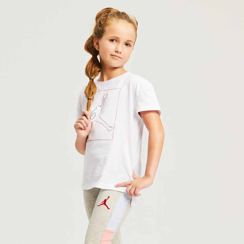 JORDAN Girls Short Sleeve Tee