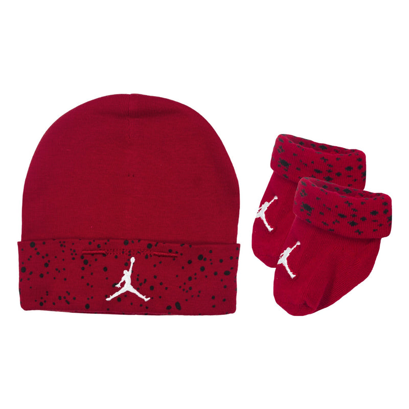 JORDAN Jumpman Hats & Socks Set, Red Color, Front side, two items - Rookie Hong Kong