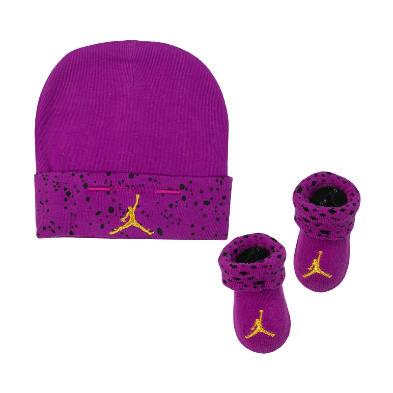 JORDAN Jumpman Hats & Socks Set, Purple Color, Front Side, 2 Items - Rookie Hong Kong