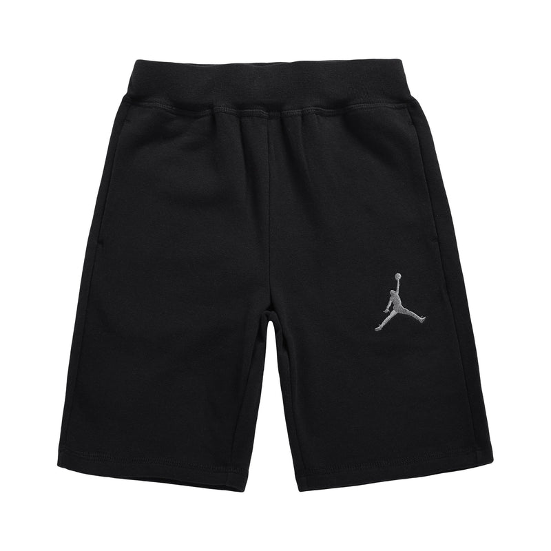 JORDAN Knit Shorts, Black Color, Front Side - Rookie Hong Kong