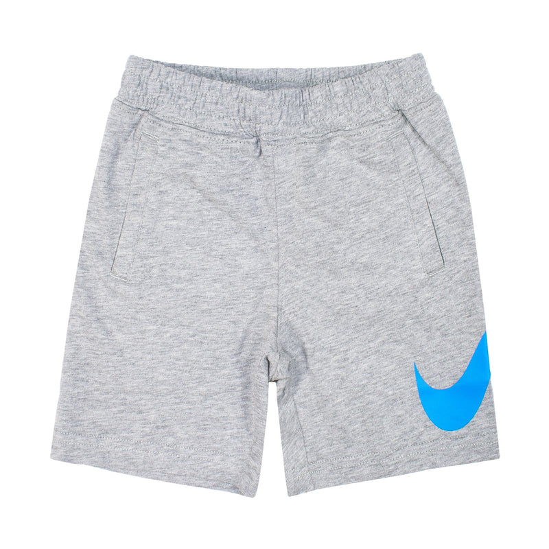NIKE Swoonsh Jersey Short, Grey, Front Side, Blue Nike Logo - Rookie Hong Kong
