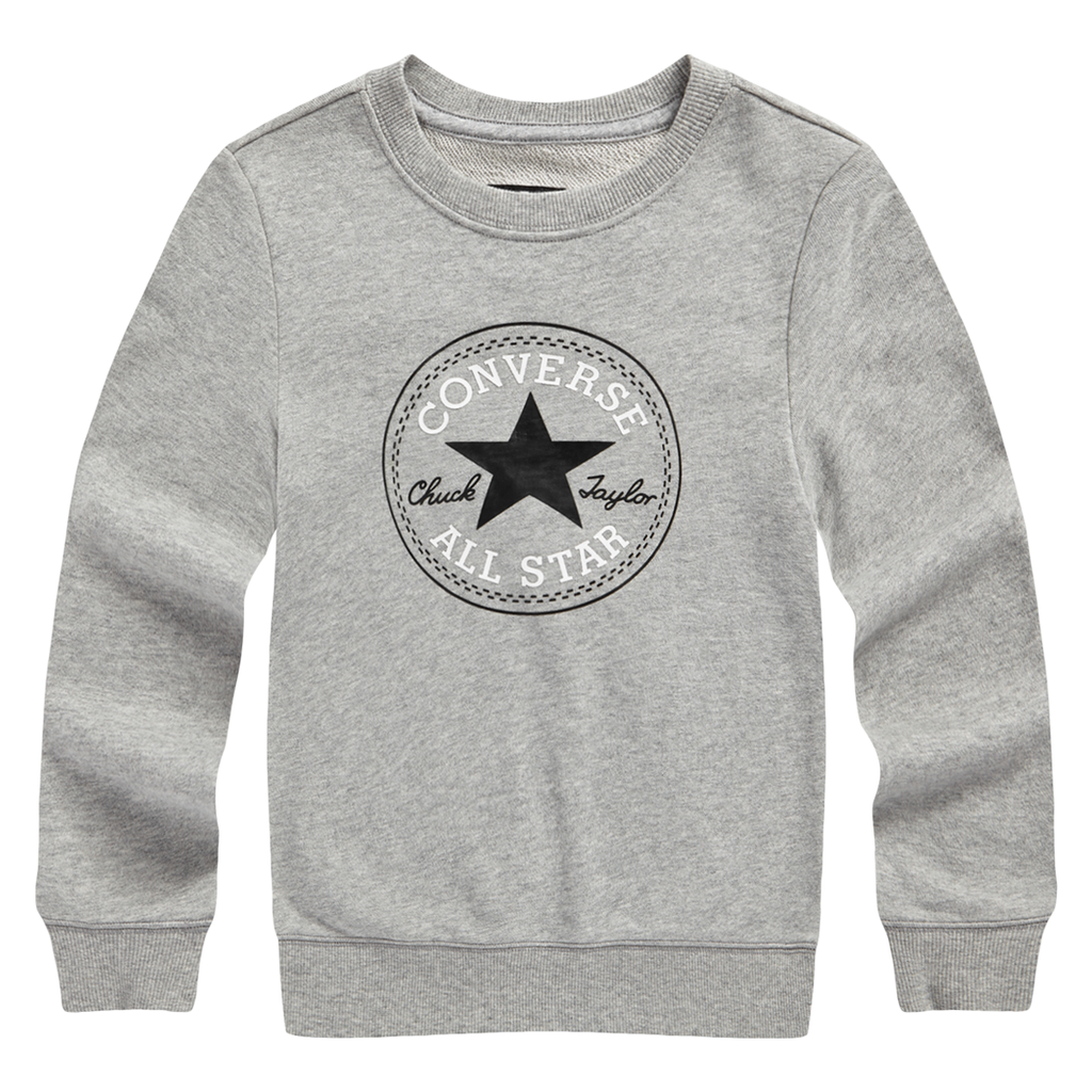 CONVERSE All Star Long Sleeves Pullover, Grey, FRONT, 83121HO666 - ROOKIE Hong Kong