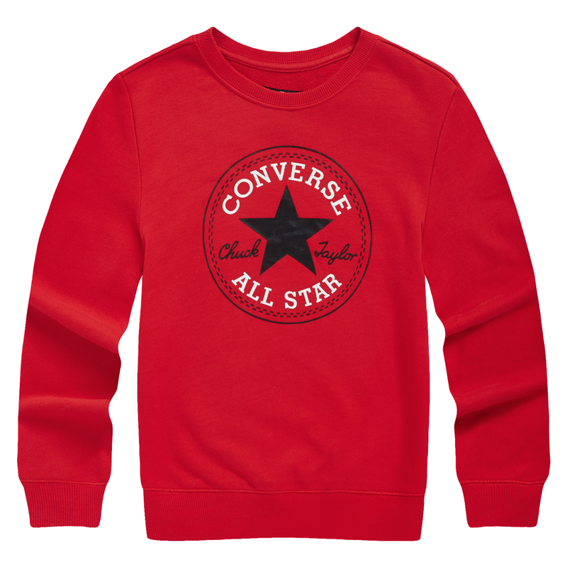 CONVERSE All Star Long Sleeves Pullover, RED, FRONT, 83121HO666 - ROOKIE Hong Kong