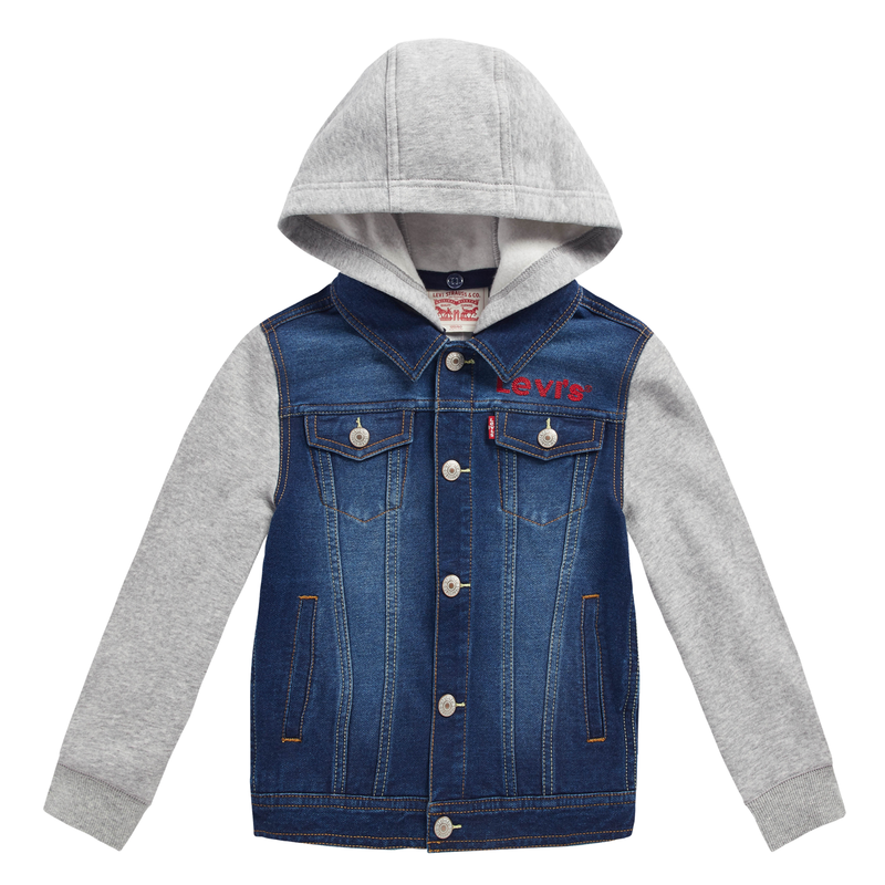 LEVI'S Boys Denim Grey Long Sleeves Jacket