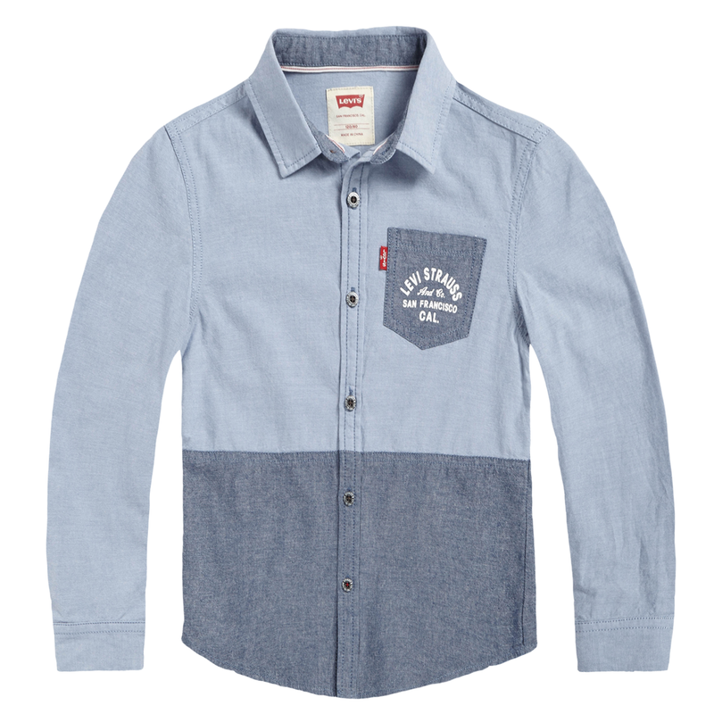 LEVI'S Boys' Modern One Pocket Shirt