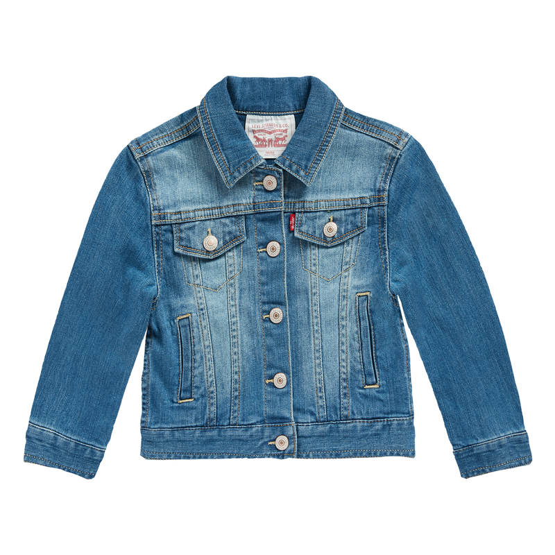 LEVI'S Girls Denim Stand Collar Jackets