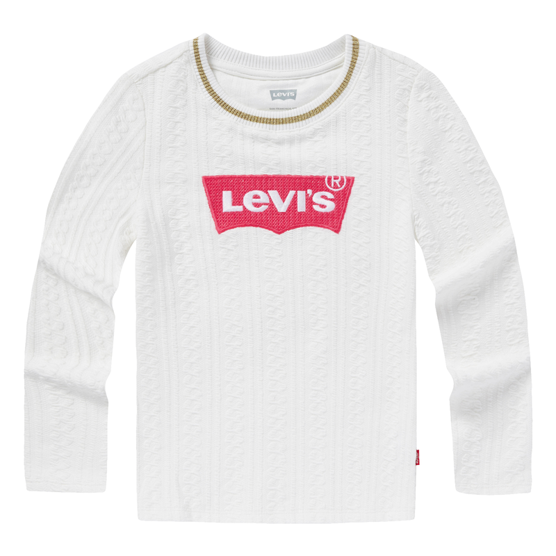 LEVI'S Girls Round Neck Knit Long Sleeves Pullover