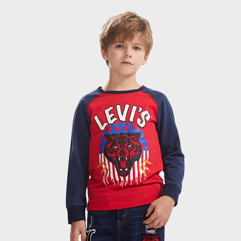 LEVI'S Boys Long Raglan Sleeves T-Shirt