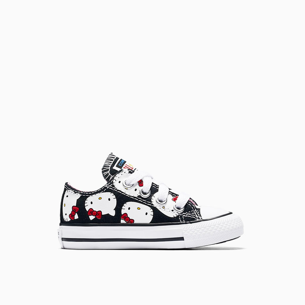 CONVERSE X HELLO KITTY CHUCK TAYLOR ALL STAR CANVAS LOW TOP, right side, black color, ROOKIE Hong Kong
