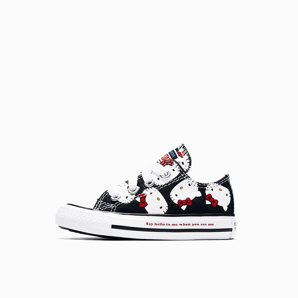 CONVERSE X HELLO KITTY CHUCK TAYLOR ALL STAR CANVAS LOW TOP, left side, black color, ROOKIE Hong Kong