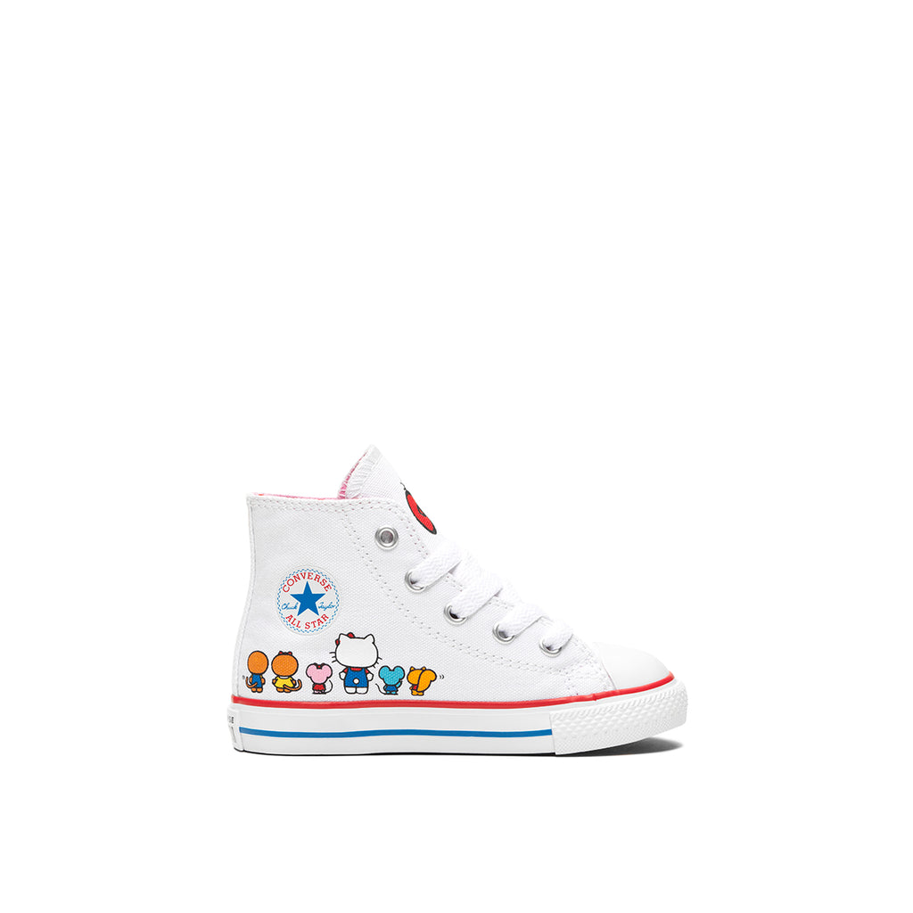 CONVERSE X HELLO KITTY CHUCK TAYLOR ALL STAR CANVAS HIGH TOP Baby, HELLO KITTY Family, right side, ROOKIE Hong Kong