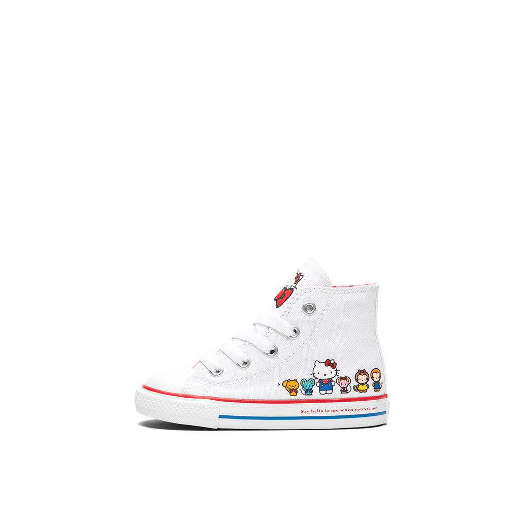 CONVERSE X HELLO KITTY CHUCK TAYLOR ALL STAR CANVAS HIGH TOP Baby, HELLO KITTY Family, left side, ROOKIE Hong Kong