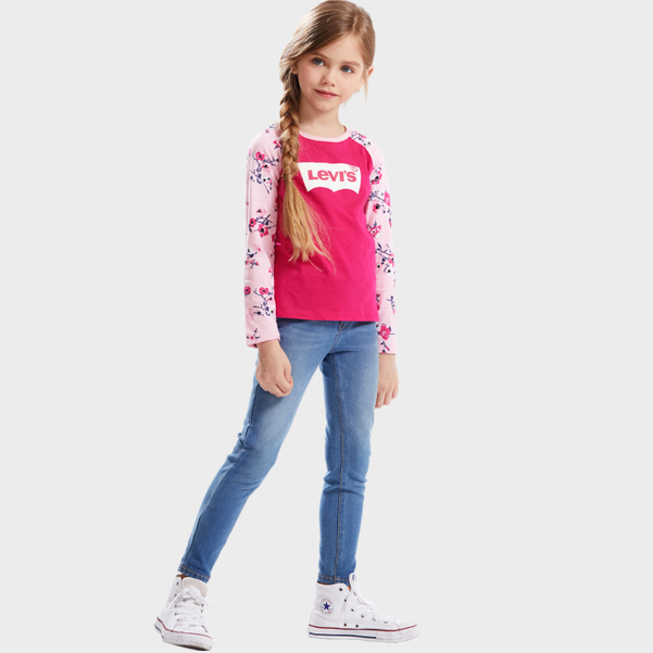 LEVI'S Girl's Floral Print Long Sleeve T-Shirt