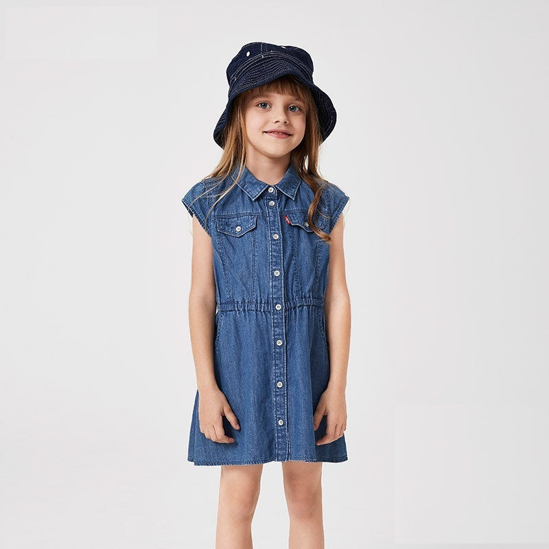 LEVI'S Girls Short Sleeve Dress