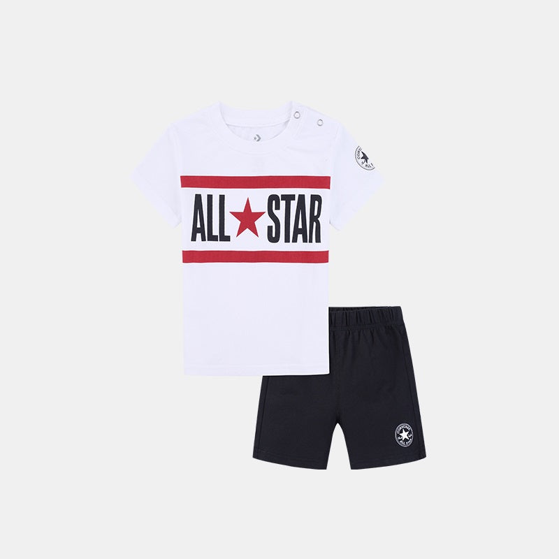 CONVERSE Boys Short Sleeve Tee Set