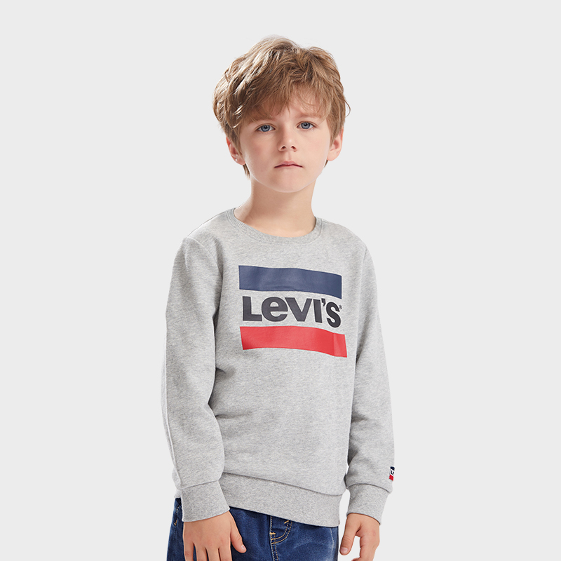 LEVI'S Boys Round Neck Pullover Hoodie