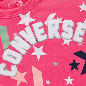 CONVERSE Girl's Stars Printing Round Neck Pullover