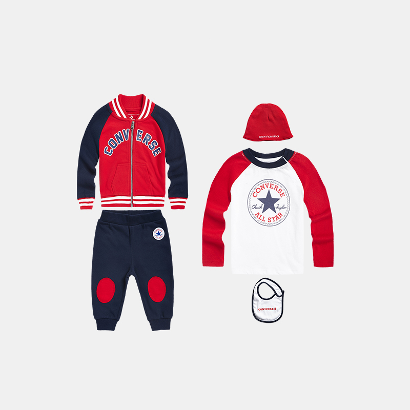 CONVERSE Baby Trousers and Jacket Five-piece Gift Set
