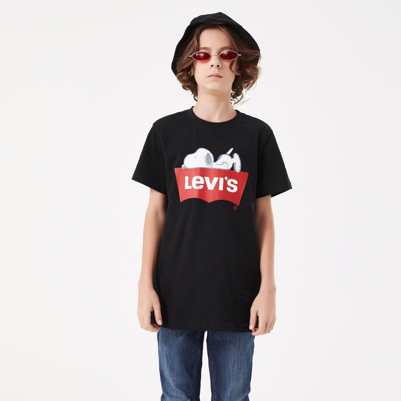 LEVI'S X PEANUTS Boys Graphic Short Sleeve T-Shirt