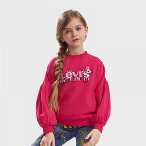LEVI'S Girls Floral Embroidery Hoodies