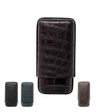 Load image into Gallery viewer, J.Cure London Crocodile Case 3 cigars - Classic