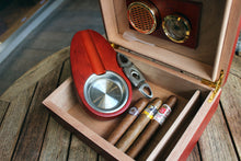 Load image into Gallery viewer, Humidor - Cherry wood cutter / ashtray set