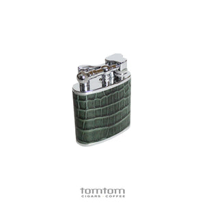 J.Cure London Table Lighter Crocodile