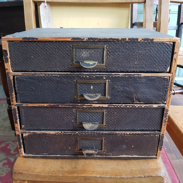 Vintage Mid Century (Ex Post Office) Bank of 4 Drawers