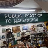 Nackington Municipal Footpath Sign