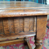 Early 20th Century Oak Stool