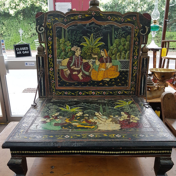 Early 20th Century Hand painted Indian Prayer Seat