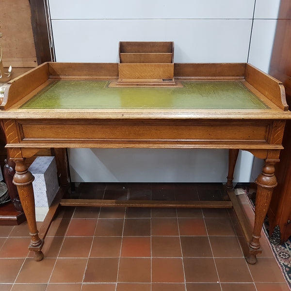 Edwardian Oak Writing Desk