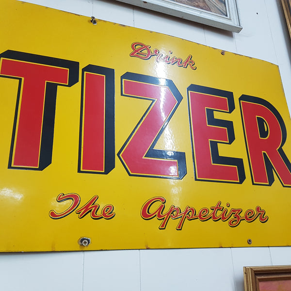 Vintage Original Tizer Enamel Sign