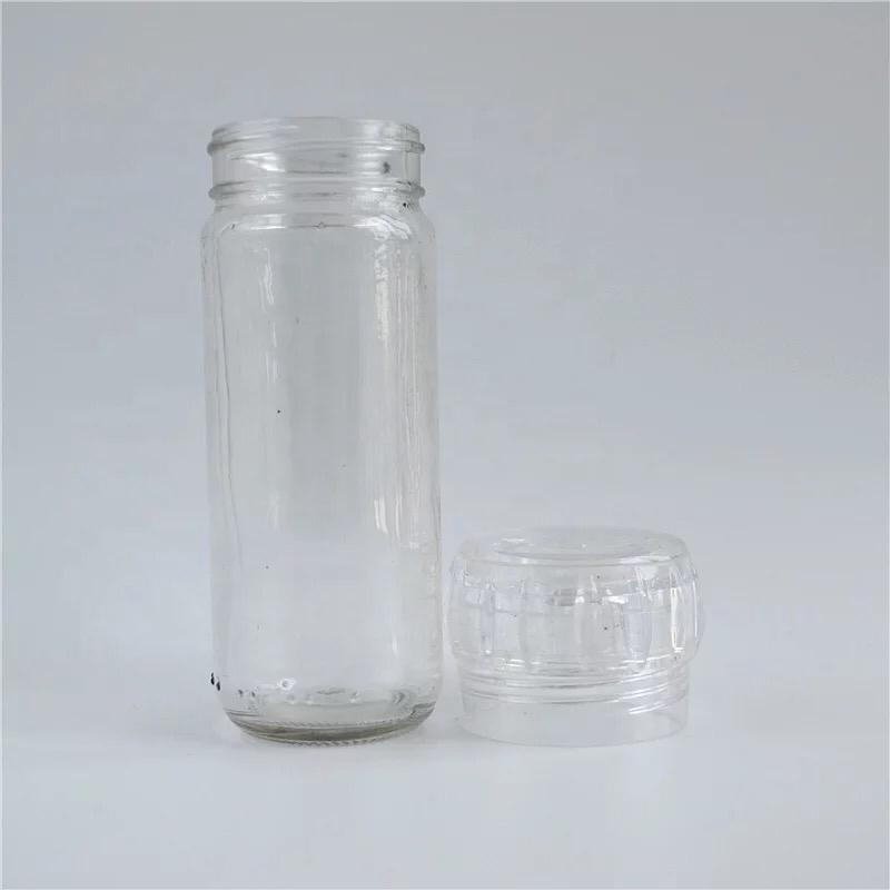 a Pair of Empty Glass Grinders