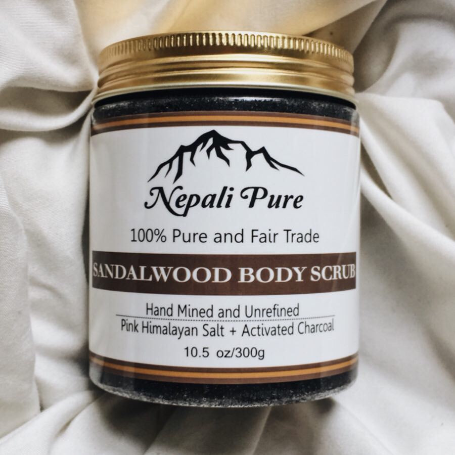 Black Himalayan Salt Scrub with Sandalwood