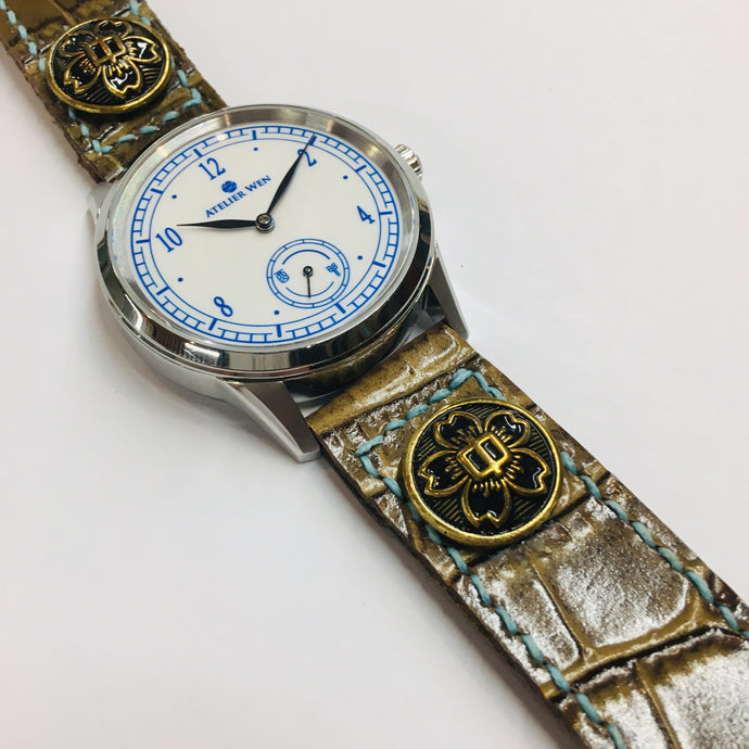 Collaboration with watchmaker, ATELIER WEN: Fusion of French & Chinese designers & Japanese inspired straps