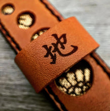 Load image into Gallery viewer, 47Ronin#300 Tawny brown calf leather (22mm, Black stitching, Tochigi leather)
