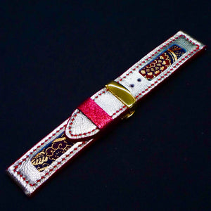 47Ronin#182 Golden coated calf leather (24mm, Red stitching)