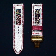 Load image into Gallery viewer, 47Ronin#182 Golden coated calf leather (24mm, Red stitching)