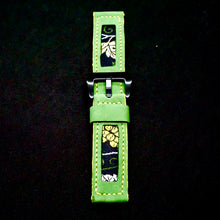 Load image into Gallery viewer, 47Ronin#180 Kelly green calf leather (22mm, Yellow stitching)