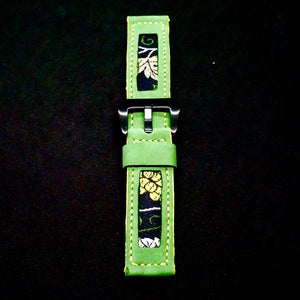 47Ronin#180 Kelly green calf leather (22mm, Yellow stitching)