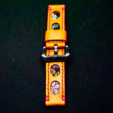 Load image into Gallery viewer, 47Ronin#174 Orange calf leather (22mm, Pink stitching)